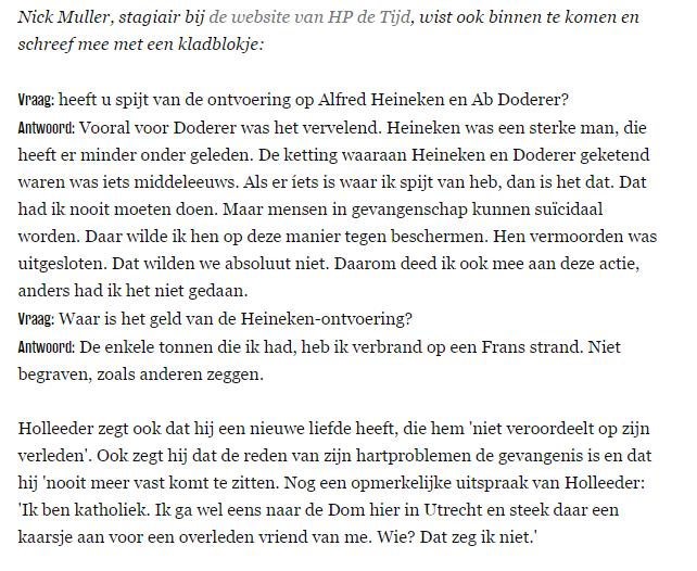Nick Muller Volkskrant Willem Holleeder