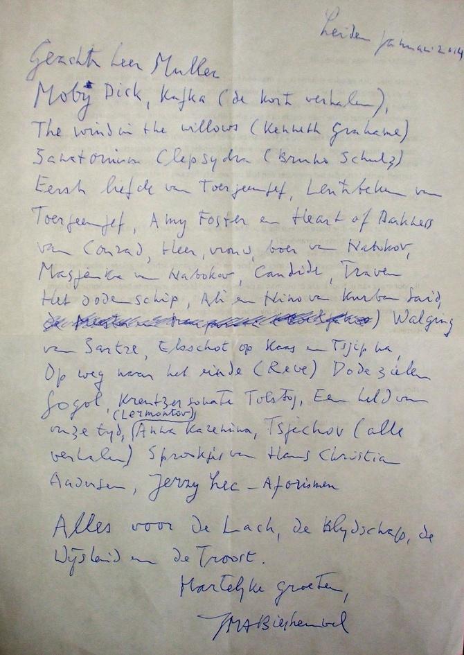 De-handgeschreven-leeslijst-van-J.M.A.-Maarten-Biesheuvel-voor-Nick-Muller-HP-DE-Tijd-2014