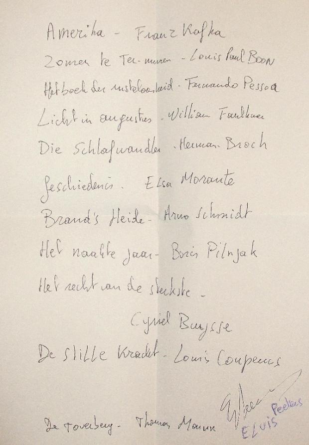 De-leeslijst-van-Elvis-Peeters-handgeschreven