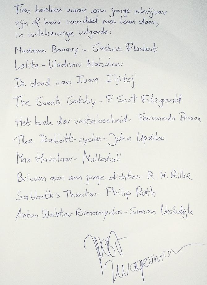 De-leeslijst-van-Joost-Zwagerman-handschrift