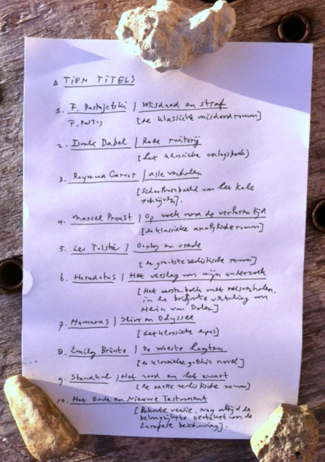 Leeslijst-oek-de-Jong-handschrift-Pier-en-oceaan-HP-De-Tijd-writlit-nick-muller-rik-reimert