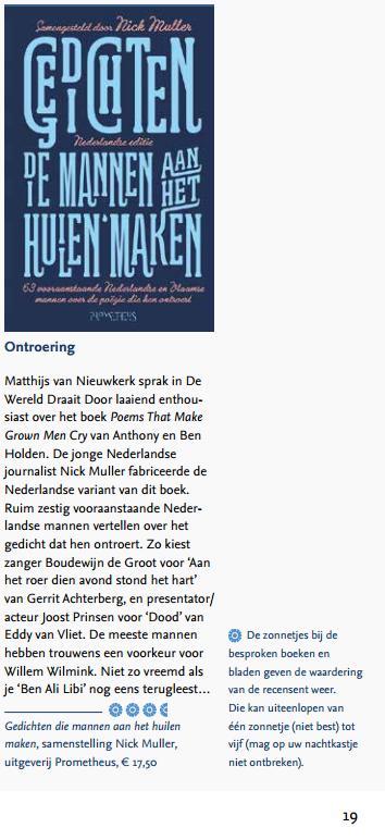 Gedichten mannen huilen doopsgezind NL