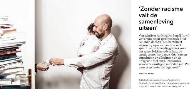 Abdelkader Benali HP de Tijd interview Nick Muller Zonder racisme valt de samenleving uiteen brief aan dochter